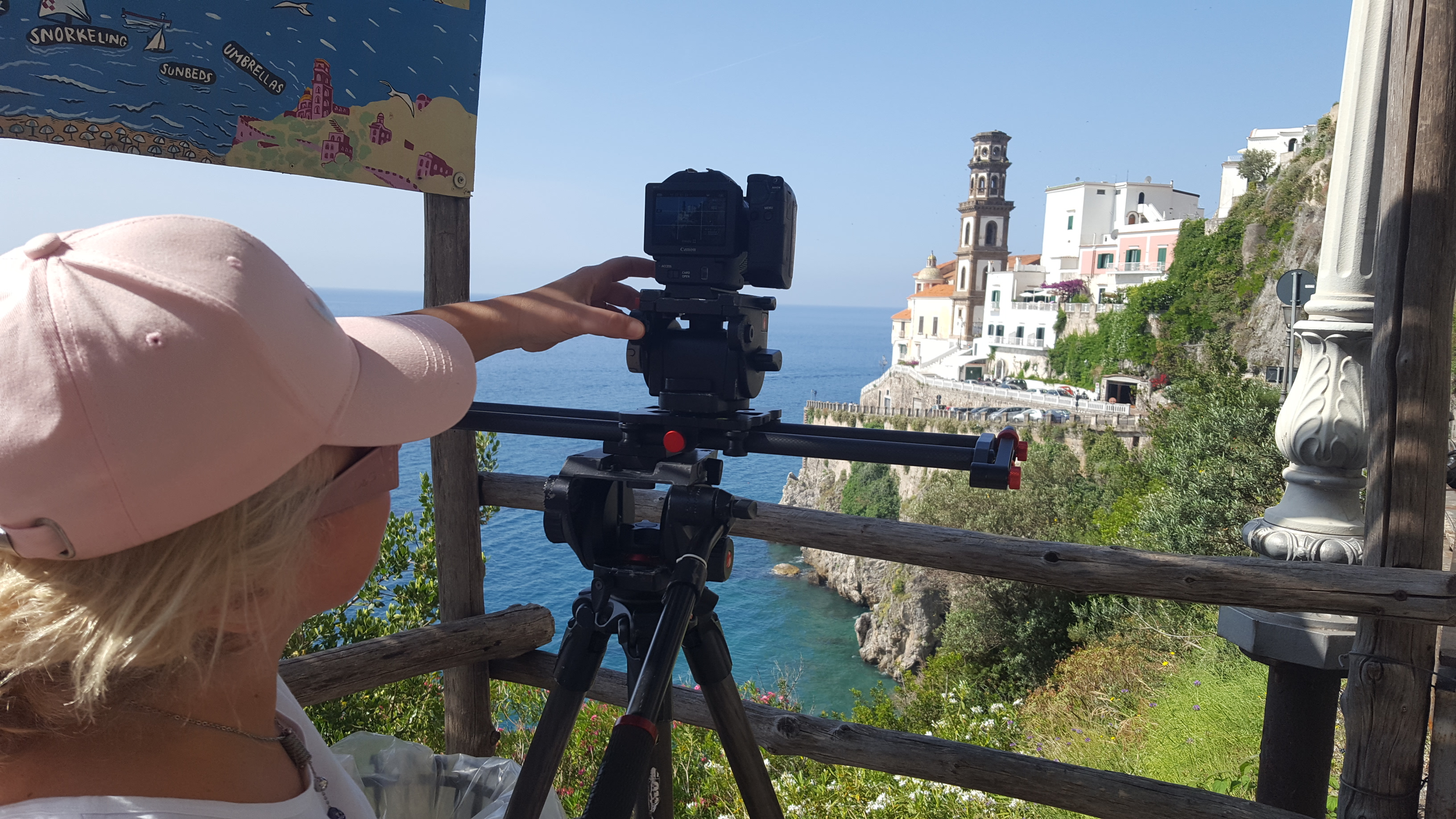 back stage documentario Amalfi Coast